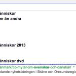 Google berättar Sanningen om oss Svenskar
